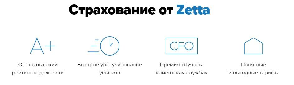 страховая компания zetta